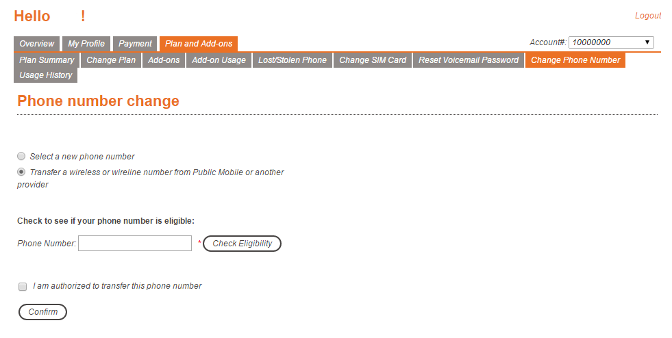how to change phone number publicmobile