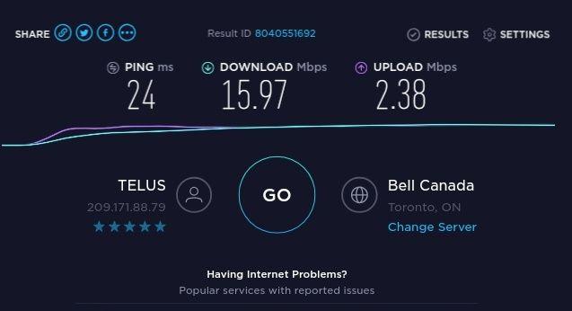 3G network speed