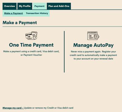 Manage Autopay