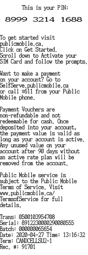 Canadian Cell Supplies voucher example