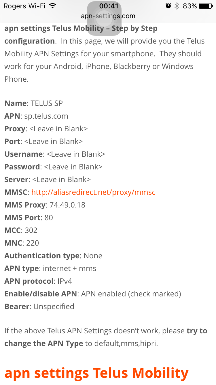 Solved: Unable to send MMS - Picture Messages - Community
