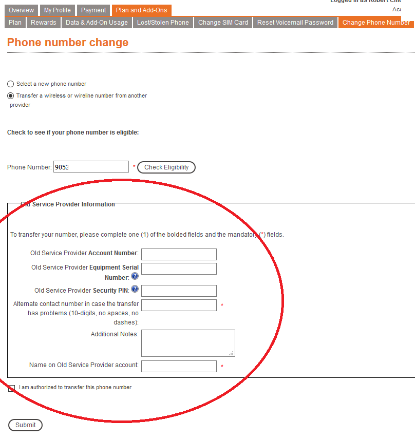Transferring your number to Public Mobile - Page 61 - Community