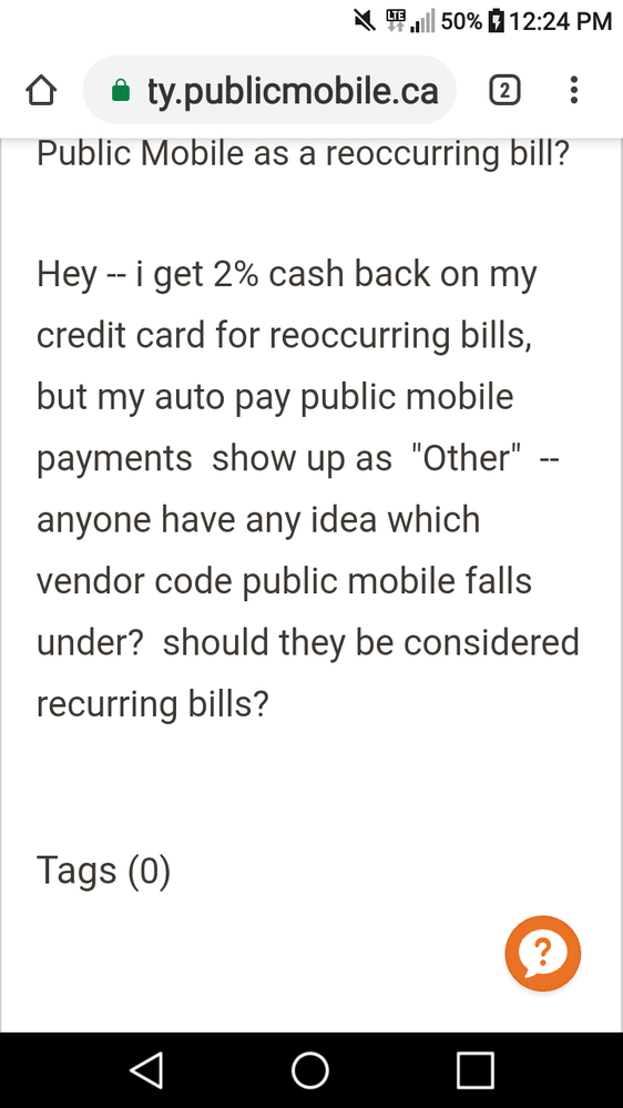 Public Mobile as a reoccurring bill? - Page 2 - Community