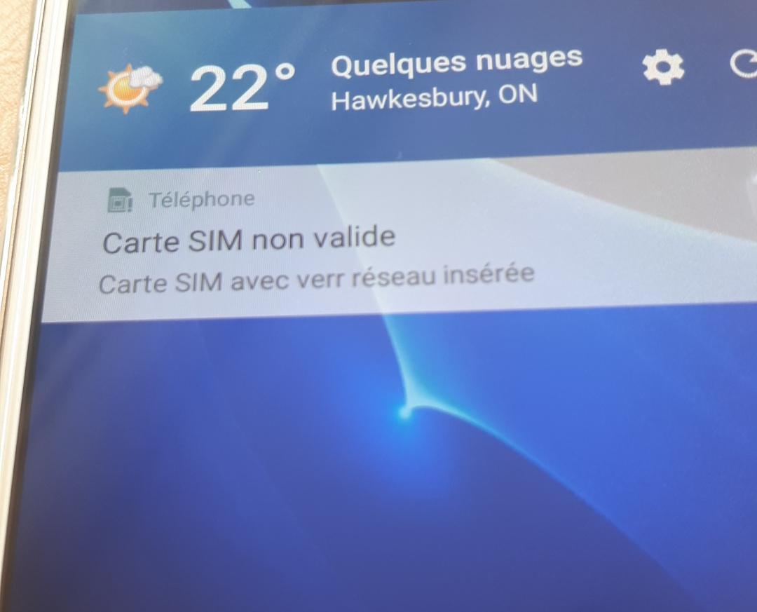 free mobile carte sim non valable