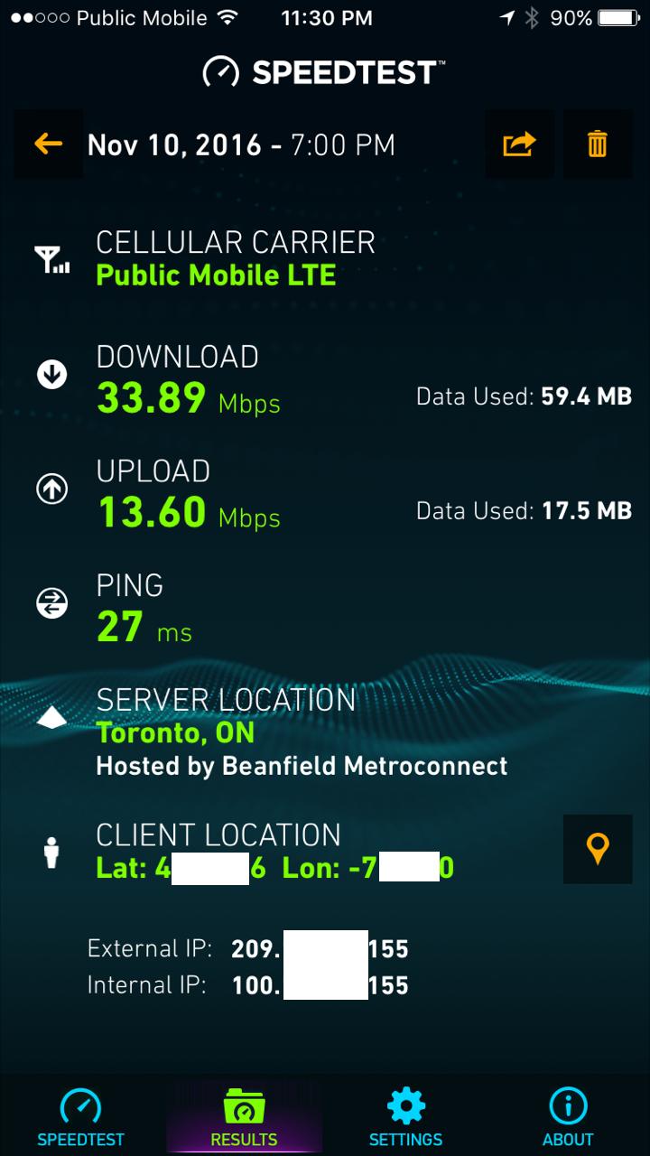 Solved: Is Public Mobile's LTE throttled vs Telus/Koodo? W
