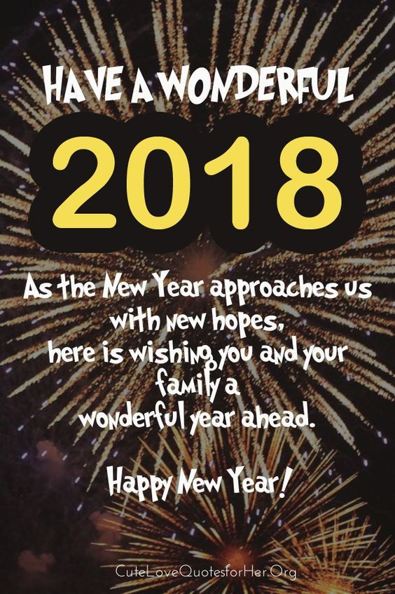 happy new year s message community